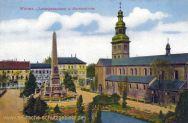 Worms, Ludwigsdenkmal und Martinskirche