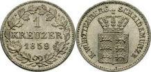 1 Kreuzer, Württemberg 1859