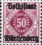 Volksstaat Württemberg 1920, 50 Pfennig
