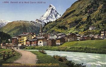 Zermatt et le Mont Cervin (4505 m)