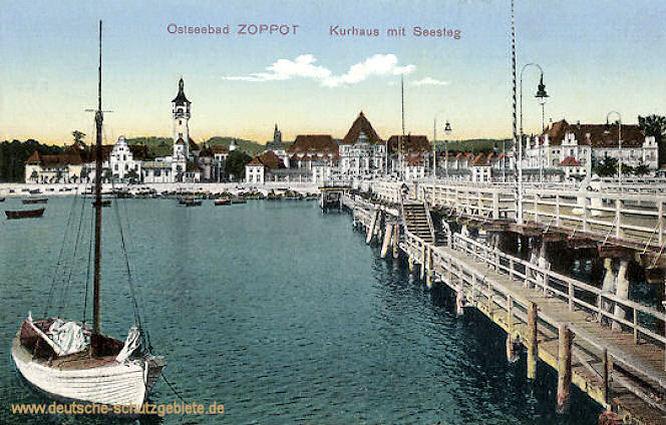 Zoppot, Kurhaus mit Seesteg