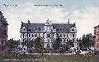 Zwickau, Kaiserliches Postamt mit Albertplatz