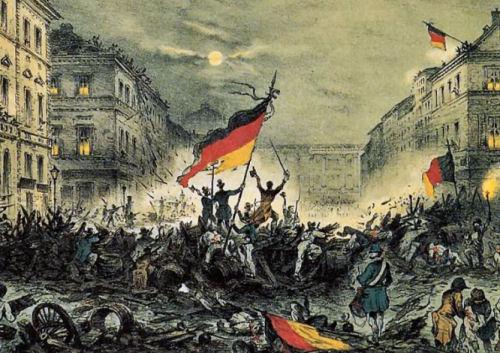 Barrikaden in Berlin 1848