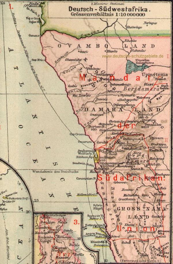 Afrika Karte Deutsch.Deutsch Südwestafrika Ehemalige Kolonie 1884 1919 Deutsche