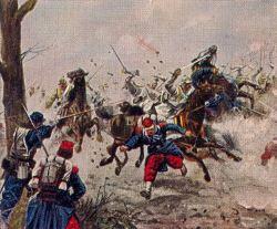 Das Leibkürassier-Regiment bei Poupry, 2. Dezember 1870