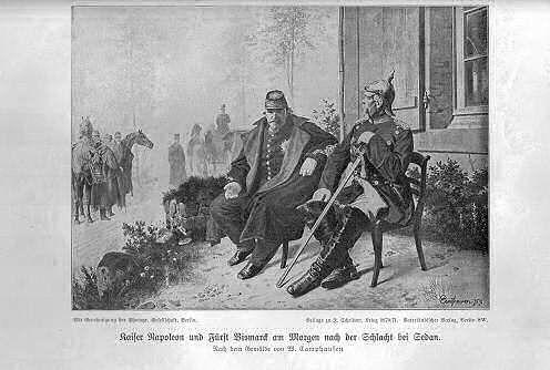 Kaiser Napoleon und Fürst Bismarck am Morgen nach der Schlacht bei Sedan