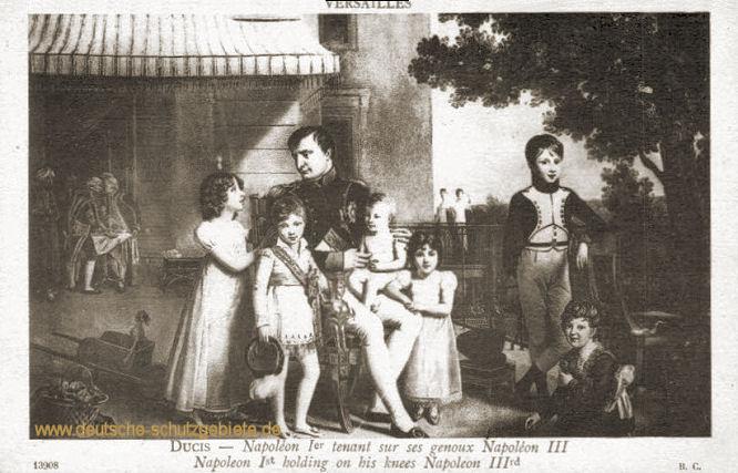 Napoleon I. hält auf seinen Knien Napoleon III.