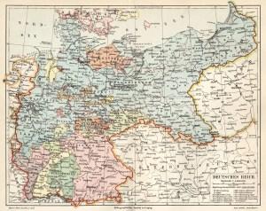 Deutsches Reich (Kaiserreich) Landkarte 1900