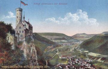Schloß Lichtenstein mit Echaztal