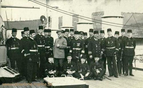 Admiral Souchon mit seinem Stabe