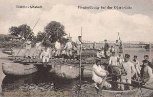 Küstrin-Altstadt, Pionierübung bei der Oderbrücke