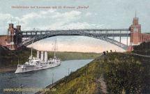 S.M.S. Berlin mit Hochbrücke bei Levensau
