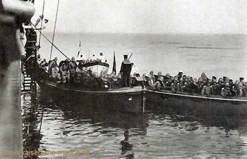 S.M.S. Breslau, Ausschiffung des Landungskorps, 1912