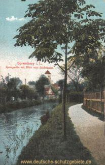 Spremberg, Spreepartie mit Schlossturm