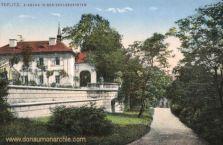 Teplitz-Schönau, Eingang in den Schlossgarten