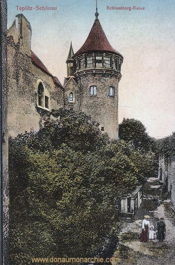 Teplitz-Schönau, Schlossberg-Ruine