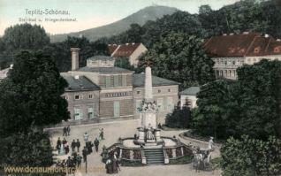 Teplitz-Schönau, Steinbad und Kriegerdenkmal