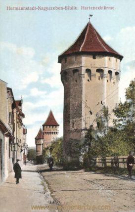 Hermannstadt (Nagyszeben - Sibiu), Hartenecktürme
