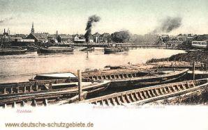 Itzehoe, Hafenpartie mit Panorama