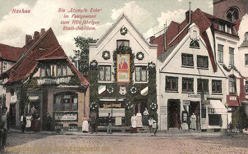 """Itzehoe, Die """"Stupfe Ecke"""" im Festgewand zum 1100jährigen Stadt-Jubiläum"""