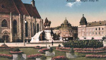 Klausenburg (Kolozsvár - Cluj), Mátyás király tér (König Mathias-Platz)
