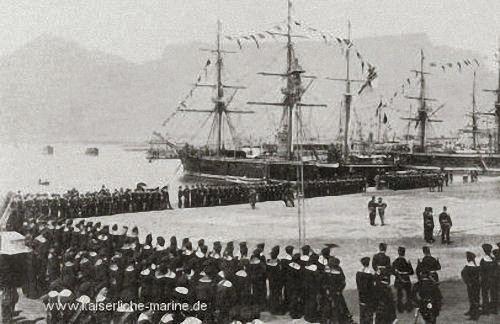Kreuzergeschwader S.M.S. Bismarck, S.M.S. Carola, S.M.S. Sophie, S.M.S. Olga in Kapstadt 1888