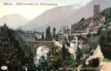 Meran, Gilfpromenade mit Steinernensteg