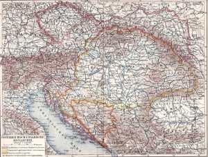 Österreichisch-Ungarische Monarchie, Landkarte