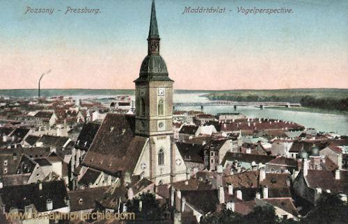 Pressburg (Pozsony, Bratislava), Vogelperspective