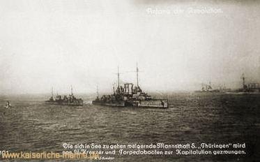 S.M.S. Thüringen, Revolution an Bord
