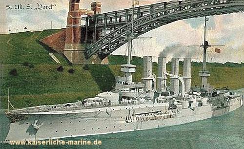 S.M.S. Yorck im Kaiser Wilhelm Kanal