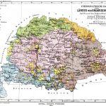 Ethnographische Karte der Länder der Ungarischen Krone aufgrund der Volkszählung von 1880