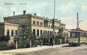 Allenstein O.-Pr., Bahnhof