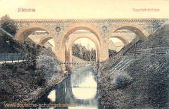 Allenstein O.-Pr., Eisenbahnbrücke