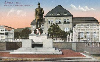 Bingen, Festhalle und Denkmal Ludwig IV.