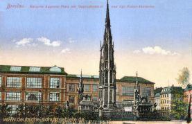 Breslau, Kaiserin Augusta-Platz mit Siegesdenkmal und Kgl. Kunst-Akademie