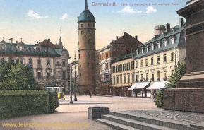 Darmstadt, Ernst Ludwig-Platz mit weißem Turm