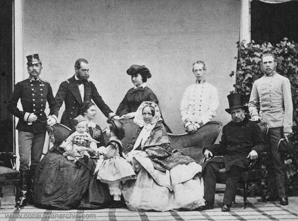 Die österreichische Kaiserfamilie im Jahr 1860