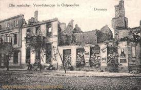 Die russischen Verwüstung in Ostpreußen - Domnau