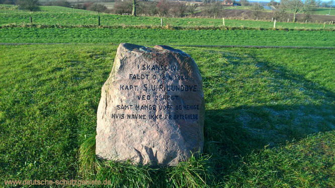 Kapt. S.U.R. Lundbye, Gedenkstein an den Düppeler Schanzen