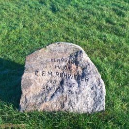 Major C.F.M. Rohweder, Gedenkstein an den Düppeler Schanzen
