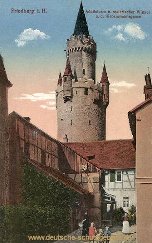 Friedberg in Hessen, Adolfsturm, Siebenmannsgasse