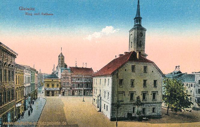 Gleiwitz, Ring und Rathaus
