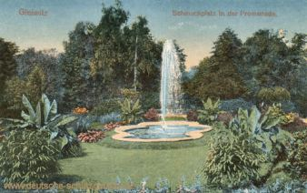Gleiwitz, Schmuckplatz in der Promenade