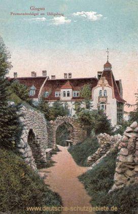 Glogau, Promenadenhügel am Uhligsberg