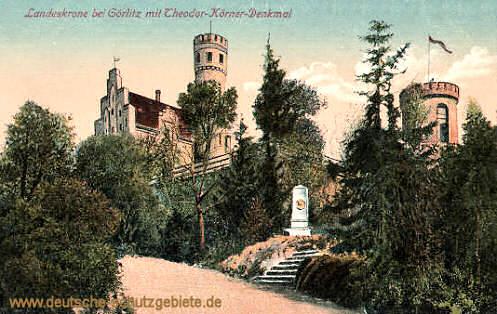 Görlitz, Landeskrone mit Theodor-Körner-Denkmal