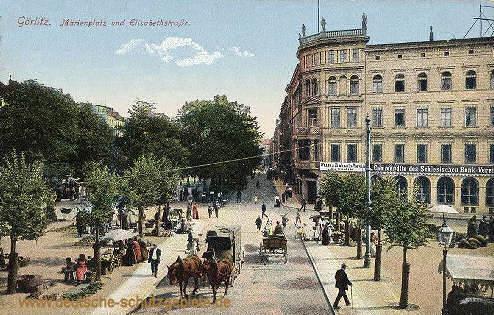 Görlitz, Marienplatz und Elisabethstraße