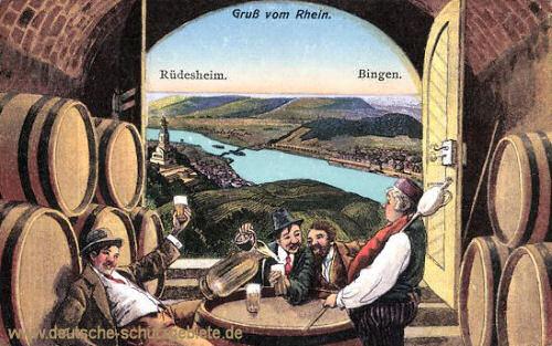 Gruss vom Rhein - Rüdesheim - Bingen
