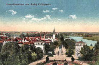 Hanau-Kesselstadt vom Schloss Philippsruhe