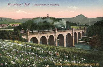 Hirschberg in Schlesien, Boberviadukt mit Hausberg